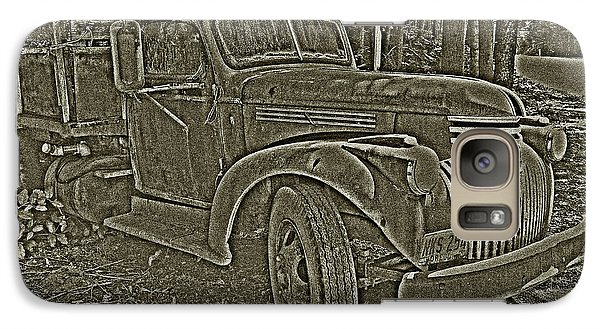 Galaxy Case featuring the photograph Old Truck In Sepia by Betty Depee