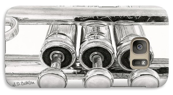 Trumpet Galaxy S7 Case - Old Trumpet Valves by Sarah Batalka