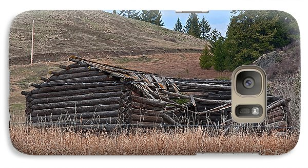 Galaxy Case featuring the photograph Old Turn Of The Century Log Cabin Homestead Art Prints by Valerie Garner