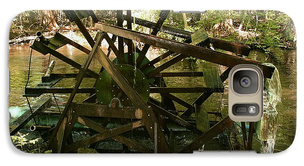 Galaxy Case featuring the photograph Old Waterwheel by Cathy Harper