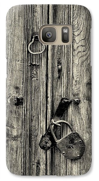 Galaxy Case featuring the photograph Old Weathered Door by Nicola Fiscarelli