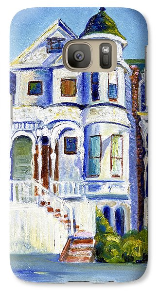 Galaxy Case featuring the painting Old White Victorian In Oakland California by Asha Carolyn Young