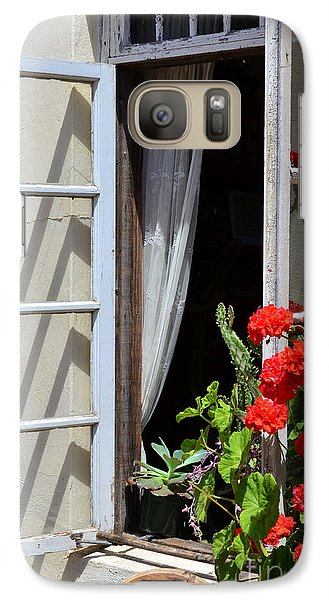 Galaxy Case featuring the photograph Old Window by Debby Pueschel