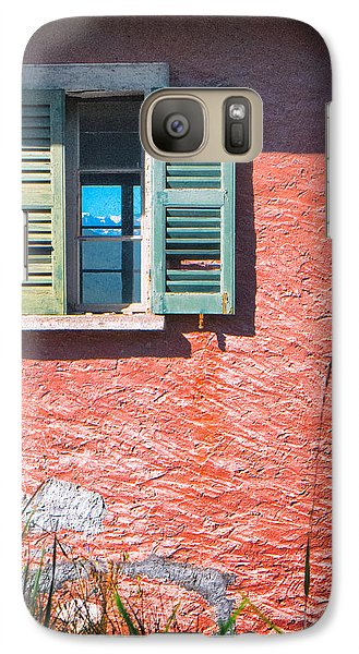 Galaxy Case featuring the photograph Old Window With Reflection by Silvia Ganora
