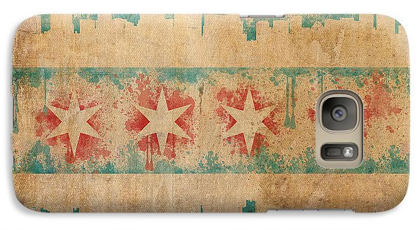 Old World Chicago Flag Galaxy S7 Case