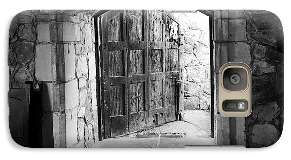 Galaxy Case featuring the photograph Old World Door by Serene Maisey
