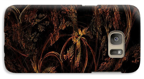 Galaxy Case featuring the digital art Old World Floral by Linda Whiteside
