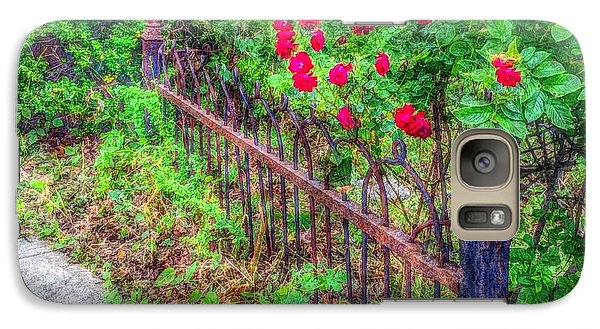 Galaxy Case featuring the photograph Old Wrought Iron Gate 2 by Becky Lupe