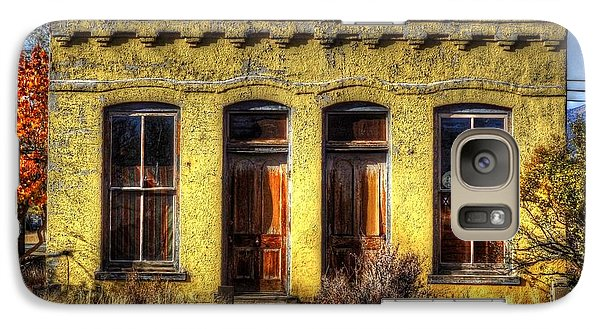 Galaxy Case featuring the photograph Old Yellow House In Buena Vista by Lanita Williams