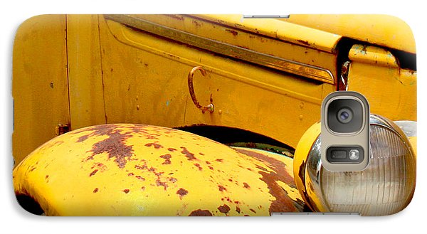 Transportation Galaxy S7 Case - Old Yellow Truck by Art Block Collections