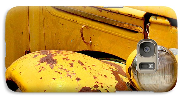 Old Yellow Truck Galaxy Case by Art Block Collections