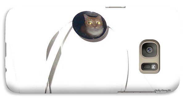 Galaxy Case featuring the photograph Olga Cat Reflected In Drawer Knob by Kathy Barney