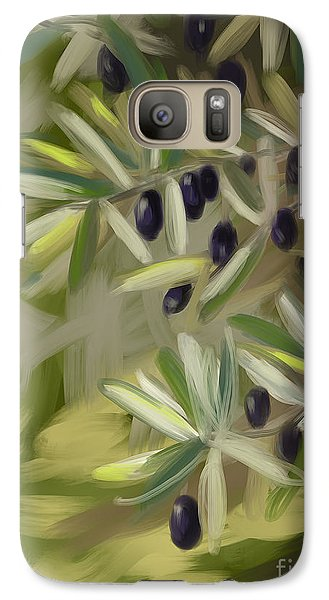 Galaxy Case featuring the painting Olive Tree by Go Van Kampen