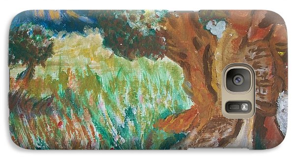 Galaxy Case featuring the painting Olive Trees by Teresa White