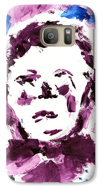 Galaxy Case featuring the painting Oliver Twist Portrait Watercolor by Frank Bright