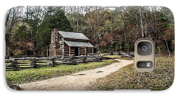 Galaxy Case featuring the photograph Oliver's Log Cabin by Debbie Green