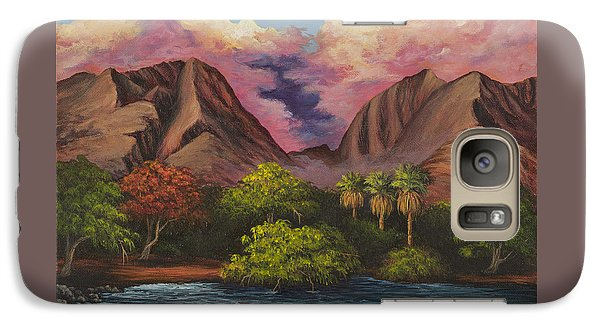 Galaxy Case featuring the painting Olowalu Valley by Darice Machel McGuire