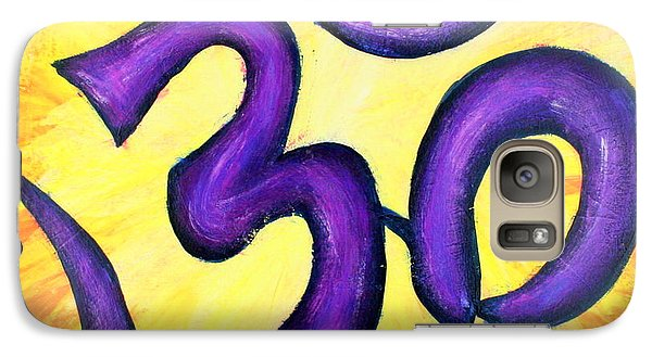 Galaxy Case featuring the painting Om Symbol Art Painting by Bob Baker