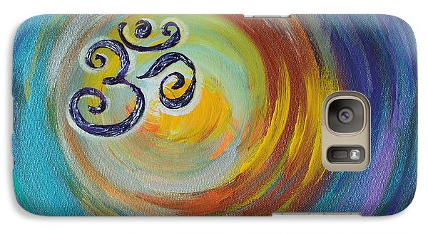Galaxy Case featuring the painting Om Vortex by Agata Lindquist