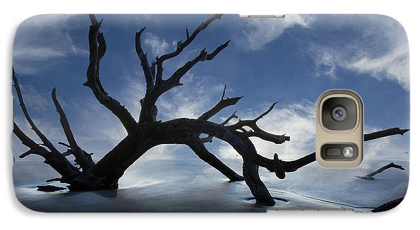 Galaxy Case featuring the photograph On A Misty Morning by Debra and Dave Vanderlaan