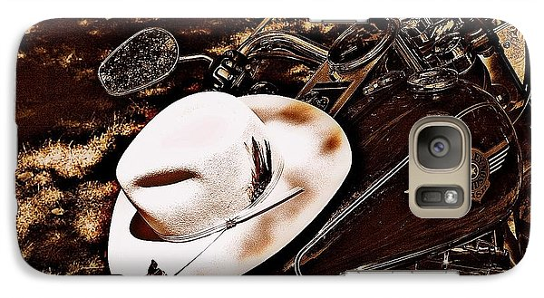 Galaxy Case featuring the photograph On A Steel Horse by Karen Kersey