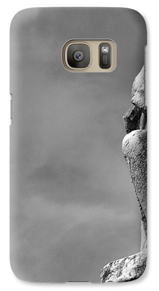 Galaxy Case featuring the photograph On Bended Knee In Black And White by Nadalyn Larsen