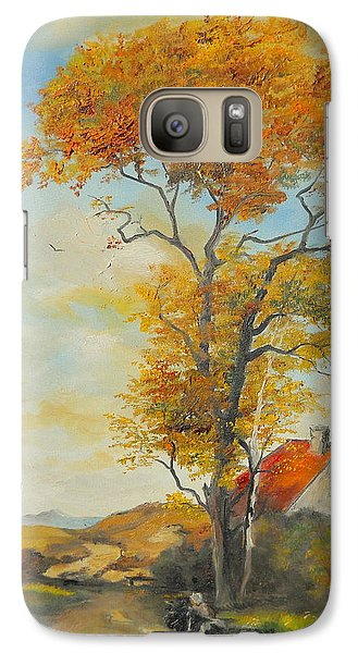 Galaxy Case featuring the painting On Country Road  by Sorin Apostolescu
