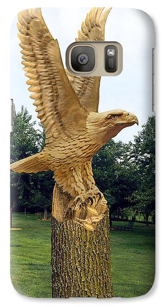 Galaxy Case featuring the digital art On Eagle's Wings by Doug Kreuger
