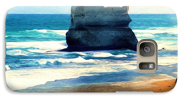 Galaxy Case featuring the painting On Gibson Beach by Dennis Lundell