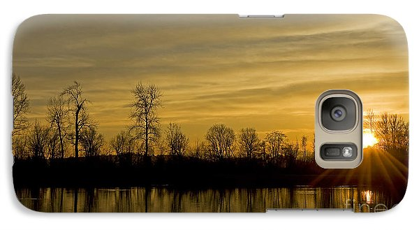 Galaxy Case featuring the photograph On Golden Pond by Nick  Boren