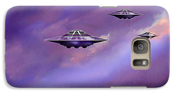Galaxy Case featuring the painting Sky  Patrol by Hartmut Jager