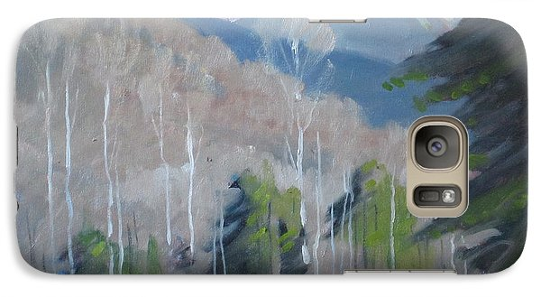 Galaxy Case featuring the painting On The Ashuwillticook Rail Trail by Len Stomski