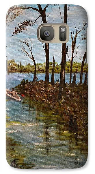 Galaxy Case featuring the painting On The Bayou by Debbie Baker