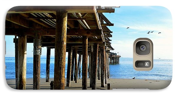 Galaxy Case featuring the photograph On The Beach In Capitola by Alex King