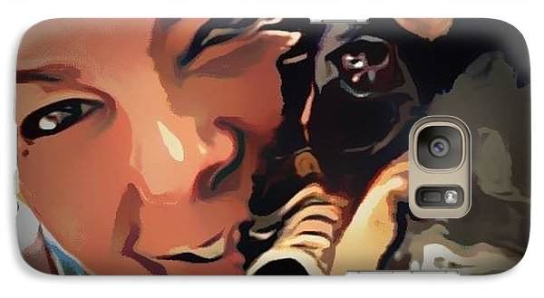 Galaxy Case featuring the photograph On The Deck by Denise Tomasura