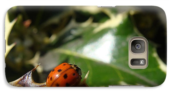 Galaxy Case featuring the photograph On The Edge by Cheryl Hoyle