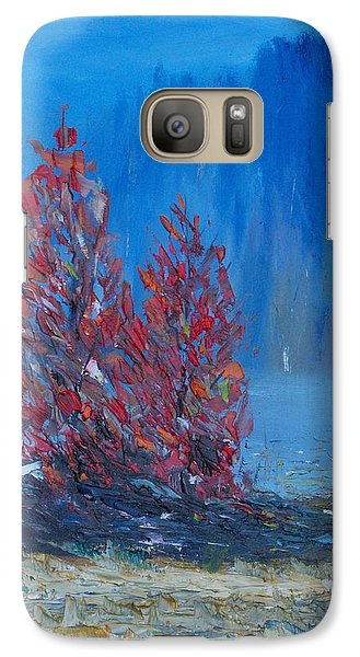 Galaxy Case featuring the painting The Woodlands Of Lough Hyne by Conor Murphy