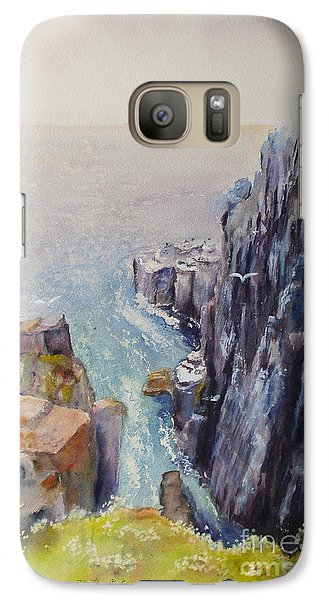 On The Edge Of The Cliff Galaxy S7 Case by Beatrice Cloake