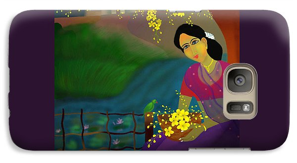 Galaxy Case featuring the digital art On The Eve Of Golden Shower Festival by Latha Gokuldas Panicker