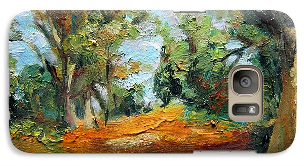 Galaxy Case featuring the painting On The Forest by Jieming Wang