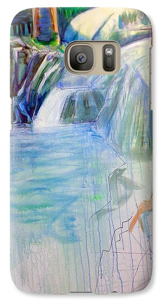 Galaxy Case featuring the painting On The Middle Fork by Steven Holder