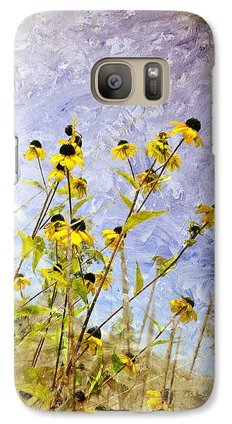 Galaxy Case featuring the digital art On The Prairie by Davina Washington