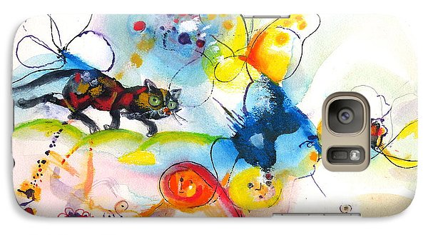 Galaxy Case featuring the painting On The Prowl by Mary Armstrong