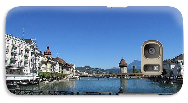 Galaxy Case featuring the photograph On The Reuss River by Art Ina Pavelescu