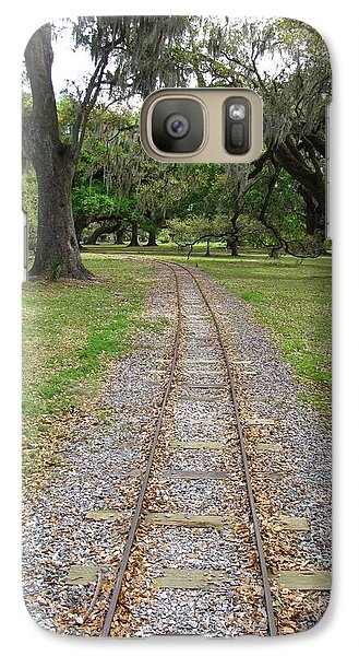 Galaxy Case featuring the photograph On The Right Track by Beth Vincent