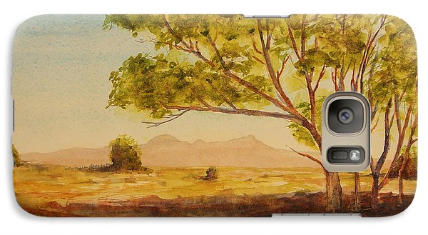 Galaxy Case featuring the painting On The Road To Broken Hill Nsw Australia by Tim Mullaney