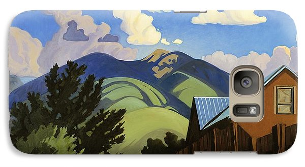 Galaxy Case featuring the painting On The Road To Lili's by Art James West