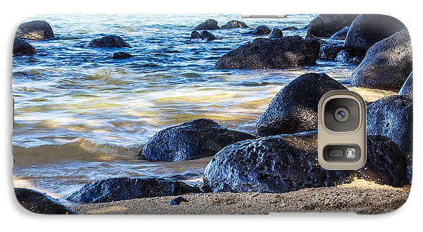 Galaxy Case featuring the photograph On The Rocks by Suzanne Luft