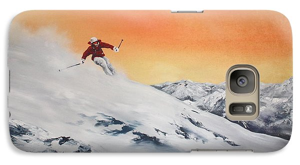 Galaxy Case featuring the painting On The Slopes by Jean Walker