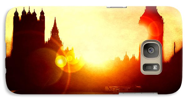 Galaxy Case featuring the digital art Big Ben On The Thames by Fine Art By Andrew David